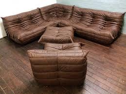 Vintage Togo Leather Living Room Set By Michel Ducaroy For Ligne - Vintage living room set