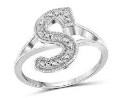 s ring letter s ring etsy