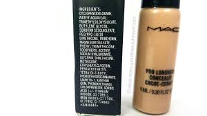 mac pro longwear concealer review ingredients makeup and beauty