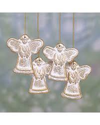 savings on ceramic ornaments holy messengers set of 4