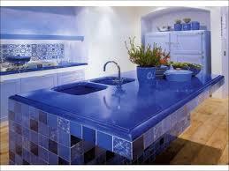 kitchen furniture blue corian countertop kitchen island wooden