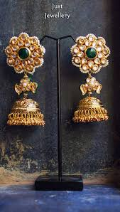 223 best jhumkas earrings images on pinterest indian jewelry