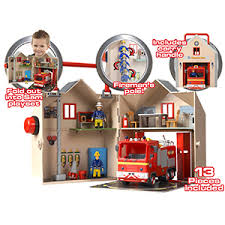 buy fireman sam deluxe fire station playset bargains