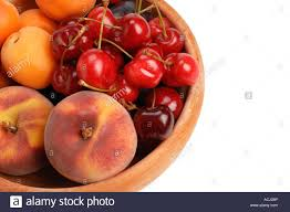 bowl of fruits bowl of fruit peaches apricots cherries plums stock photo royalty