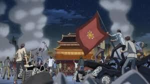Chinese Flag Wiki Image Chinese Federation Riots Jpg Code Geass Wiki Fandom