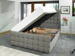 monte carlo winged storage bed ottoman bed upholstered