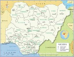 Blank Map Of Northeast States by Administrative Map Of Nigeria Nations Online Project