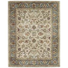 Home Depot Wool Area Rugs Kaleen Mystic William Ivory 8 Ft X 10 Ft Area Rug 6001 01 8x10