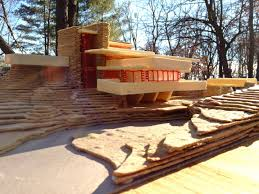 fallingwater house plans and section escortsea