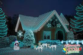 home christmas lights blue beautiful blue christmas house lights