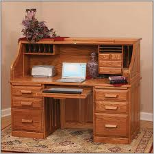 Solid Wood Computer Desk With Hutch by Furniture Wooden Desks And Rolltop Computer Desk