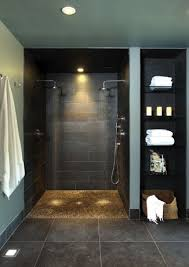 Shower Bathroom Open Shower Bathroom Design With Goodly Open Shower Ideas Pictures