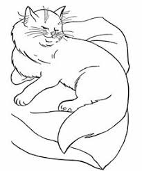 cat coloring pages printable mother cat and kittens coloring
