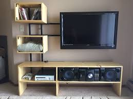 Homemade Stereo Cabinet 15 Diy Tv Stands You Can Build Easily In A Weekend U2013 Home And