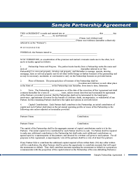 sample partnership agreement pennsylvania free download