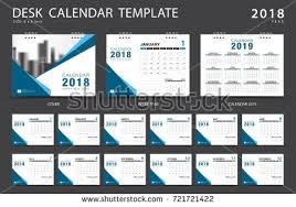 design template of desk calendar 2018 download free vector art