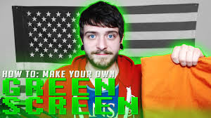 how to make your own green screen at home webcam without a