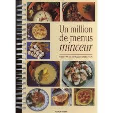 livre cuisine minceur un million de menus minceur de christine livre neuf occasion
