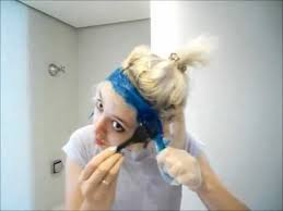 what are underneath layer in haircust dying the under layer of my hair blue youtube