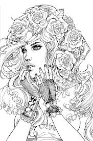 detailed face coloring pages coloring