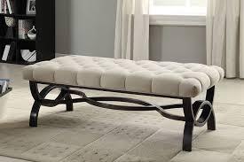 amazon com homelegance 4768fa marlena bench tufted tan neutral