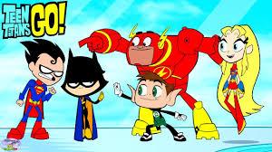 teen titans color swap transforms raven superman cyborg