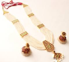 necklace pearl designs images Gold with pearl necklace designs for trendy women jpg
