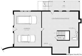 not shown on this plan but there is a 3 car garage in the basement