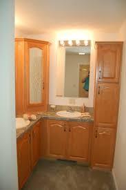 Corner Bathroom Vanity Tops by Beveled Mirrored Curio Cabinet Wayfair Cosmopolitan Metallic By