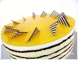 Kek Mango mango mirror cake anncoo journal