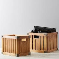vintage wooden storage crate pbteen