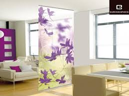 floral pattern wall partition for minimalist apartment between