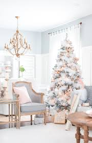 copper decorations and copper christmas tree