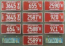 Il Vanity Plates Collectible Illinois License Plates Ebay
