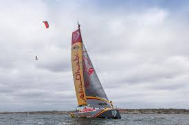 kiteboarder jumps off 108 foot sailboat