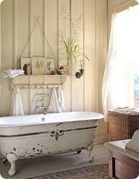 calming rustic bathroom design ideas round wall mirror and mosaic
