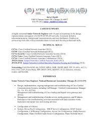 Sample Resume For Ccna Certified by Ccna Resume Ecordura Com