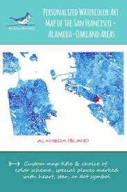 Oakland University Map 135 Best Map Love Images On Pinterest Custom Map Watercolor