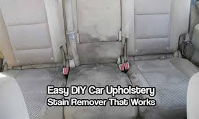 Vehicle Upholstery Cleaner Easy Diy Car Upholstery Stain Remover That Works