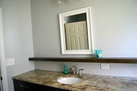 Cheap Bathroom Storage Ideas by Remodelaholic Tips For Installing A Penny Tile Backsplash