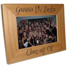 sorority picture frames glassware and formal favors something