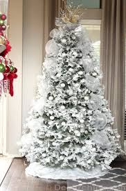 celebrate the holidays with flocked trees