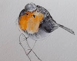 robin painting etsy