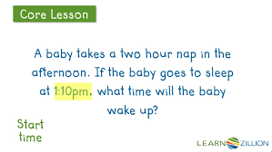 Telling Time To The Nearest Minute Worksheet Solving Elapsed Time Word Problems To The Nearest Hour Learnzillion