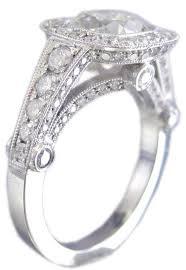 beveled engagement ring bevel cut diamond rings wedding promise diamond engagement