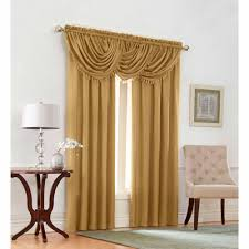 Emerald Green Curtain Panels by Mainstays Textured Solid Valance Curtain Walmart Com