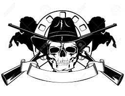 collection of 25 skull with black hat
