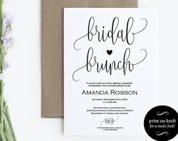 bridal brunch invite bridal brunch invite etsy