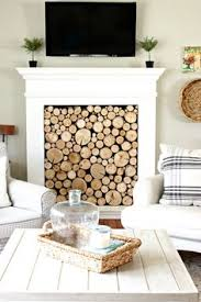 Diy Fireplace Cover Up Diy Birch Wood Fireplace Cover Interiors Living Rooms And Room