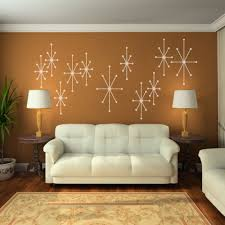 amazon com vinyl atomic starbursts wall decal mid century modern